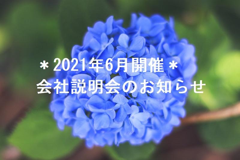 *2021年6月開催 オンライン会社説明会のお知らせ*